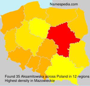 Surname Aksamitowska in Poland