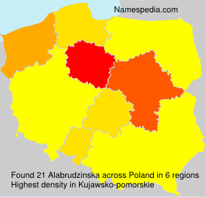 Surname Alabrudzinska in Poland