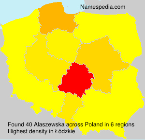 Surname Alaszewska in Poland
