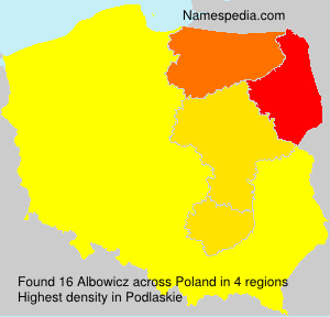 Surname Albowicz in Poland
