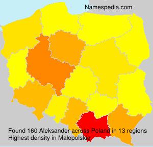 Surname Aleksander in Poland