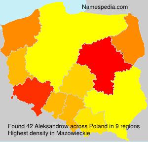 Surname Aleksandrow in Poland