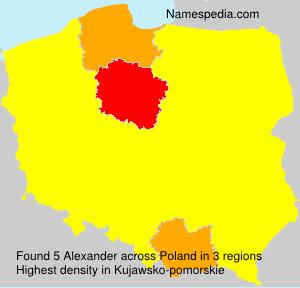 Surname Alexander in Poland