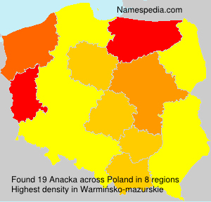 Surname Anacka in Poland