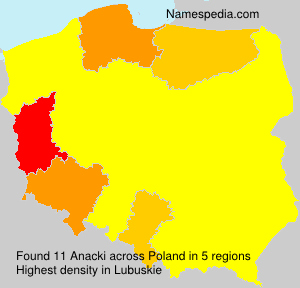 Surname Anacki in Poland