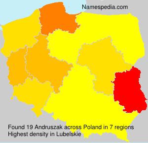 Surname Andruszak in Poland