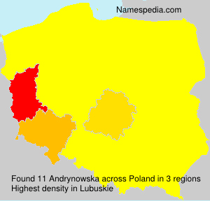 Surname Andrynowska in Poland