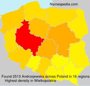 Surname Andrzejewska in Poland