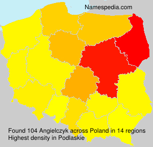 Surname Angielczyk in Poland