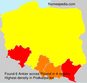 Surname Ankier in Poland