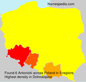 Surname Antonicki in Poland