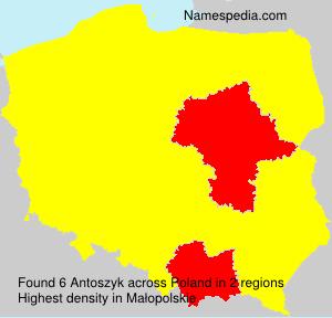 Surname Antoszyk in Poland
