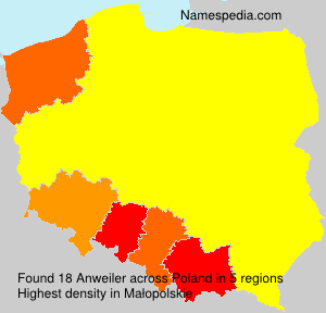 Familiennamen Anweiler - Poland