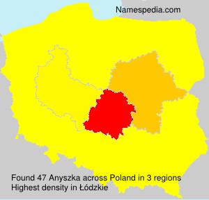 Surname Anyszka in Poland