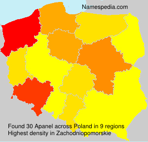 Surname Apanel in Poland