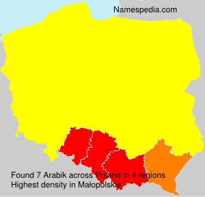 Surname Arabik in Poland