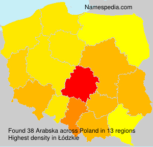 Surname Arabska in Poland