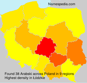 Surname Arabski in Poland