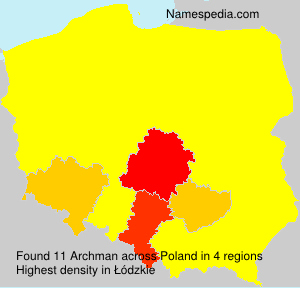 Surname Archman in Poland