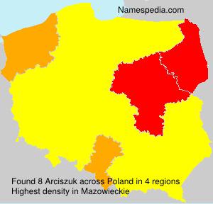 Surname Arciszuk in Poland