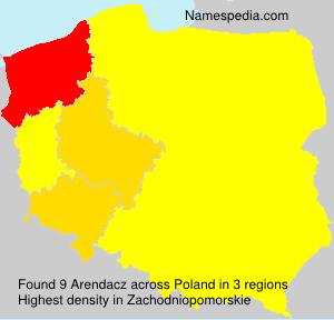 Surname Arendacz in Poland