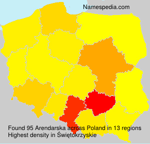Surname Arendarska in Poland
