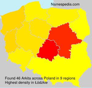 Familiennamen Arkita - Poland