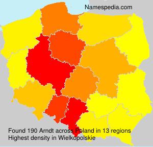 Surname Arndt in Poland