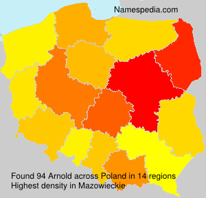 Surname Arnold in Poland