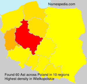Surname Ast in Poland