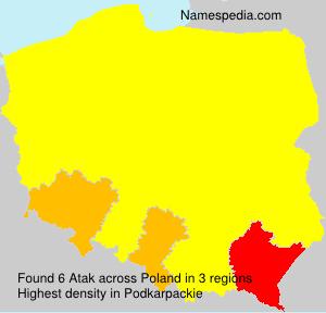 Surname Atak in Poland