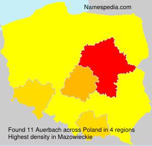 Surname Auerbach in Poland