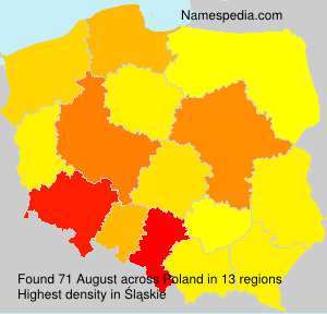 Surname August in Poland