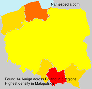 Surname Auriga in Poland