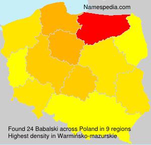 Surname Babalski in Poland