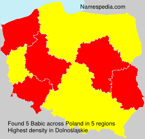 Surname Babic in Poland