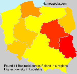 Surname Babiracki in Poland