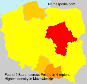 Surname Babon in Poland