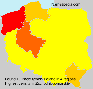 Surname Bacic in Poland