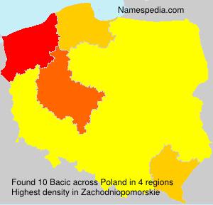 Familiennamen Bacic - Poland