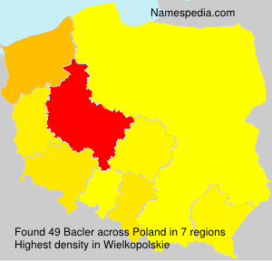 Surname Bacler in Poland