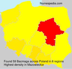 Surname Bacmaga in Poland