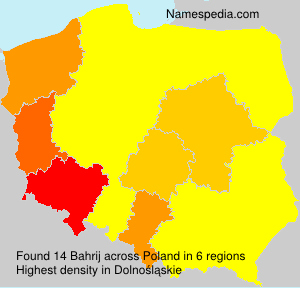 Surname Bahrij in Poland
