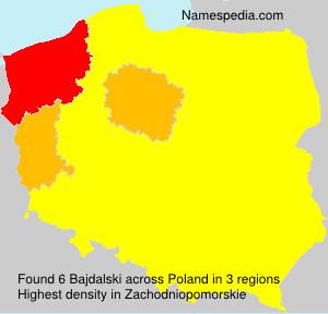 Familiennamen Bajdalski - Poland