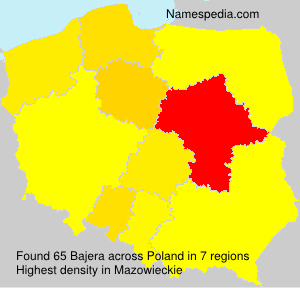 Surname Bajera in Poland
