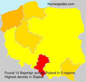 Surname Bajerlajn in Poland