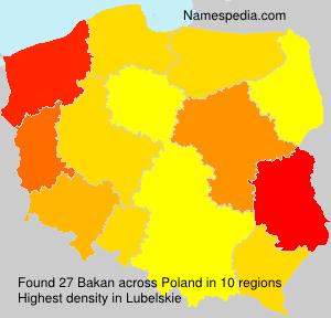 Surname Bakan in Poland
