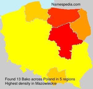 Surname Bako in Poland