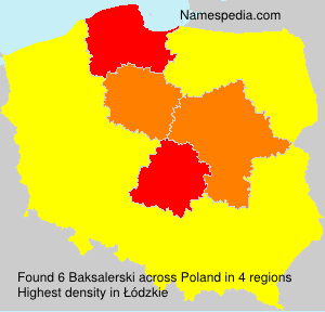 Surname Baksalerski in Poland