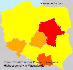 Surname Balaz in Poland